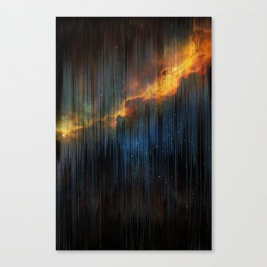 Planet Pixel Fall Down Canvas Print