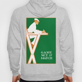 Game set and match retro tennis referee Hoody