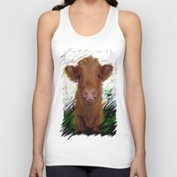 cow Tank Tops featuring cow by Vector Art