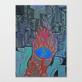 Occupied Canvas Print