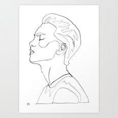 side portrait  Art Print