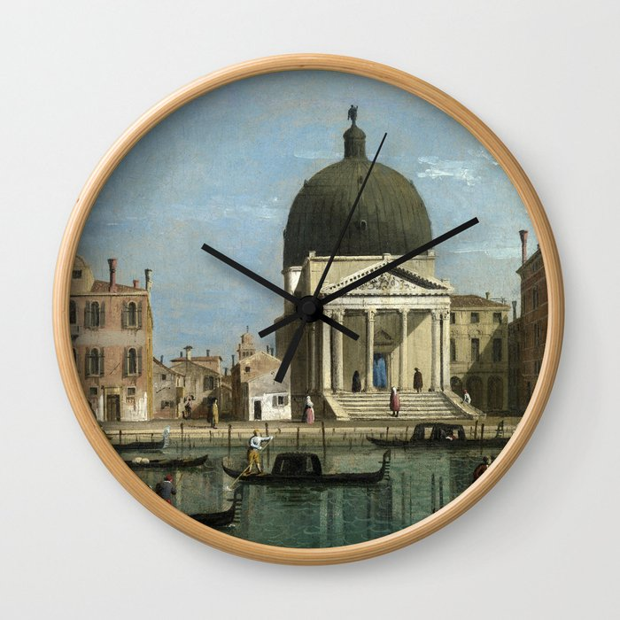 Venice: S. Simeone Piccolo by Follower of Canaletto Wall Clock