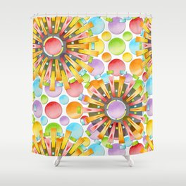 Birthday Party Polka Dots Shower Curtain