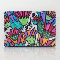 leah flores iPad Cases featuring Flores by Carolina Delleteze
