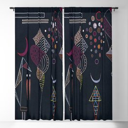 Wassily Kandinsky Reduced Contrast Blackout Curtain