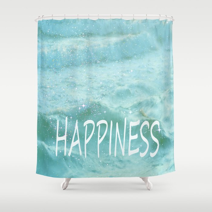 Vintage Beach Shower Curtain By Guidomontanes