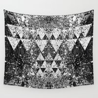 triangles Wall Tapestries featuring TRIANGLES. by Council for design.