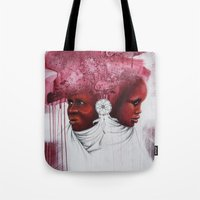 african Tote Bags featuring African  by Sebastian Wandl
