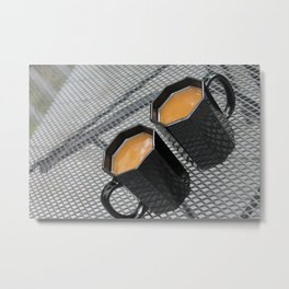Two Coffees Metal Print