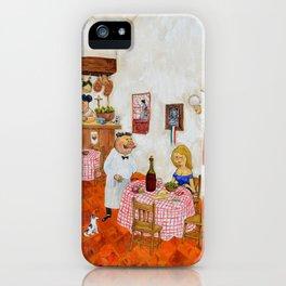 The Girl of the Trattoria La Ragazza de la Trattoria Original Oil on Canvas Juan Manuel Rocha Kinkin iPhone Case