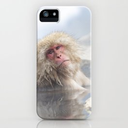 Snow Monkey Hot Springs iPhone Case