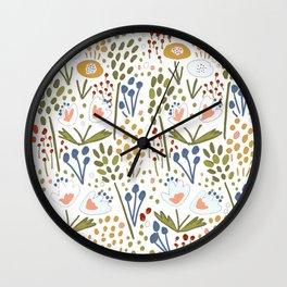 Flowery fields Wall Clock