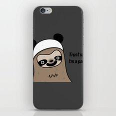 Sloth says trust me, I'm a panda iPhone & iPod Skin