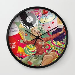 collage Vintage Wall Clock