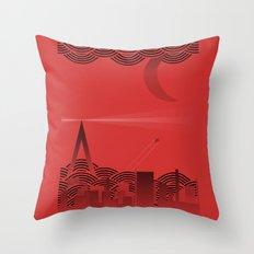 une nuit à paris (red version) Throw Pillow