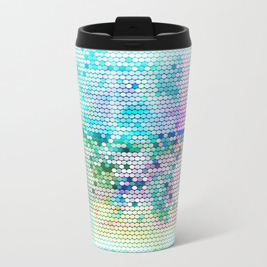 Fancy dots colorful abstract modern pattern Metal Travel Mug
