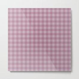 Pink gray simple plaid patterns . Metal Print