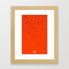 Trail Status / Orange Framed Art Print