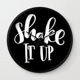 Shake It Up: black Wall Clock