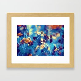 September Flowers Framed Art Print