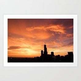 Chicago Sunset Art Print