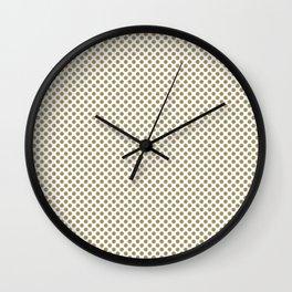 Khaki Polka Dots Wall Clock