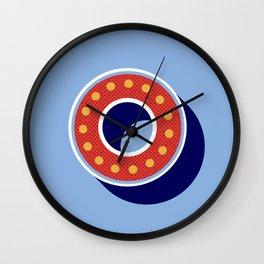 Letter O - retro alphabet Wall Clock