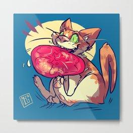 STUPID CAT Metal Print
