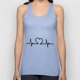 Heartbeat Unisex Tank Top