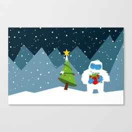 It's a Yeti Christmas! Canvas Print