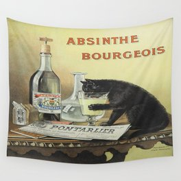 Vintage poster - Absinthe Bourgeois Wall Tapestry