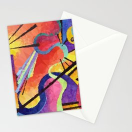 Modern Abstract Low Poly Geometric Triangles After Kandinsky Stationery Cards