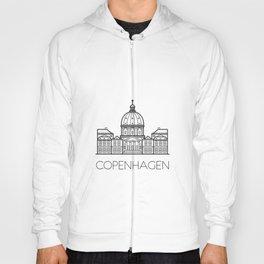Marble Church Copenhagen Denmark Black and White Hoody