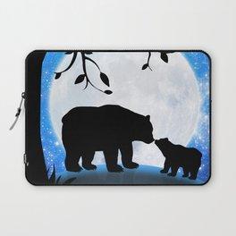 Moon and bears Laptop Sleeve