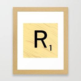 Scrabble R - Large Scrabble Tile Letter Framed Art Print