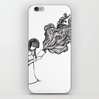 reading iPhone & iPod Skins featuring Reading by Delilah Franco