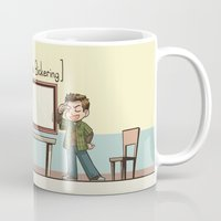 psych Mugs featuring Psych - Shawn and Lassie by feriowind