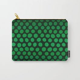 Emerald Green Ombre Dots Carry-All Pouch