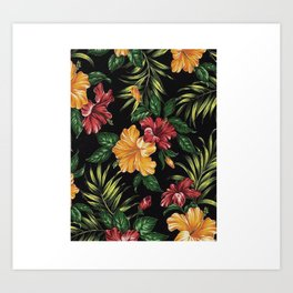 Nature Flowers Rose Art Print