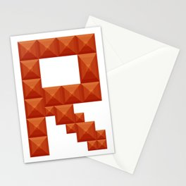"Letter ""R"" print in beautiful design Fashion Modern Style Stationery Cards"