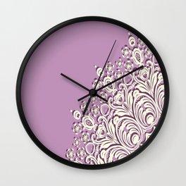 Mandala Lace Asymmetrical Wall Clock