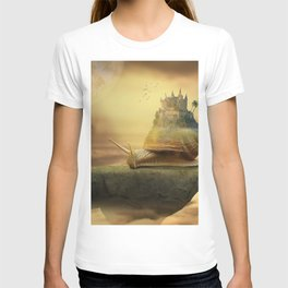 The Snail With The Castle Back Pulls The World T-shirt
