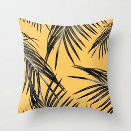 Black Palm Leaves Dream #6 #tropical #decor #art #society6 Throw Pillow