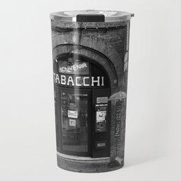 Souvenirs from Bologna Black and White Photography Street Travel Mug