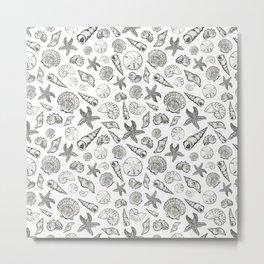 Seashell Print Metal Print