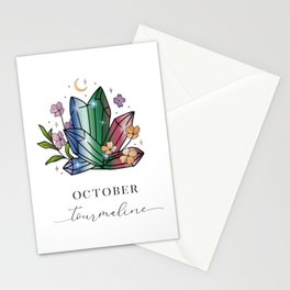 October Tourmaline Stationery Cards