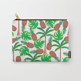 Pineapple Palm Trees and Tropical Summer Leaves Carry-All Pouch