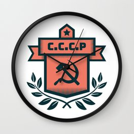 CCCP Modern Coat of Arms Wall Clock