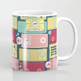 Turn the vintage radios on Coffee Mug