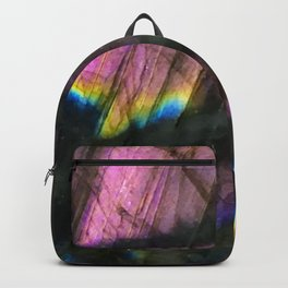 Labradorite and All it's Colors Blue Pink Yellow Purple Flash Magic Vibrant Abundance Backpack